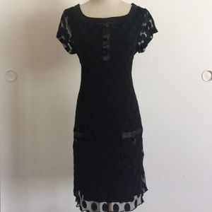 Jackie O Mesh Silk Black Dress